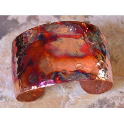CPI 91cf Copper Iridescent Hand Hammered Tapered Cuff