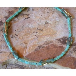 AP40n Ancestors Collection Swirl Bead Necklace - Turquoise