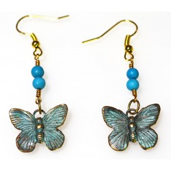 BUP129eTU Butterfly Earrings