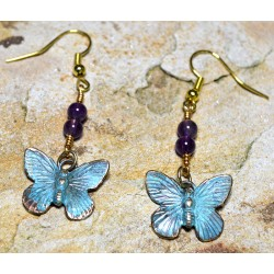 BUP129eAM Butterfly Earrings