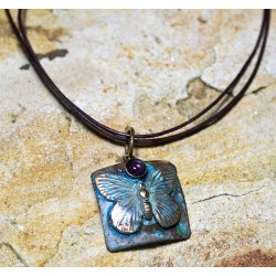 BUP129pdAM Butterfly Pendant