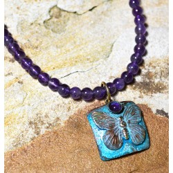 BUP129nAM Butterfly Necklace