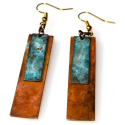 BHC237e Rectangle Earrings