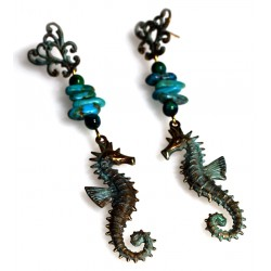 OCP141eTU Seahorse Earrings