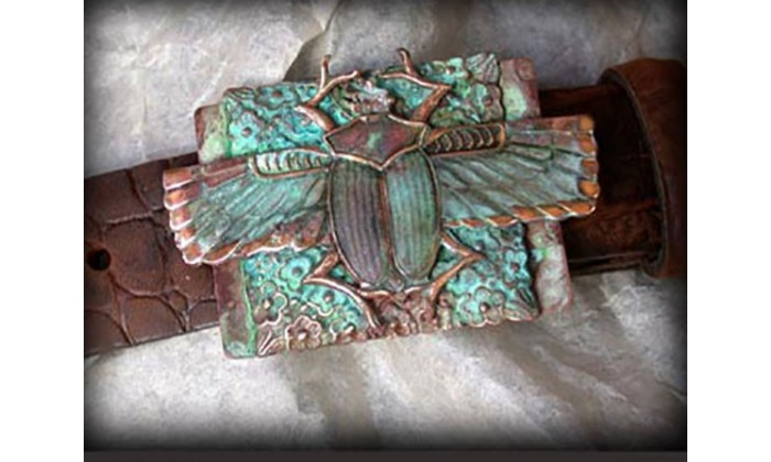 Ancient Egyptian Motif Wearable Art Belts designed by Elaine Coyne