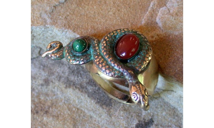 Ancient Egyptian Motif Wearable Art Rings designed by Elaine Coyne and