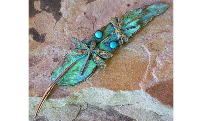 Dragonfly and Butterfly Wearable Art Pins by Elaine Coyne Galleries.