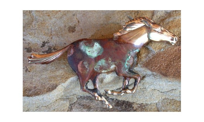 Equestrian Motif Pin Jewelry by Elaine Coyne Galleries